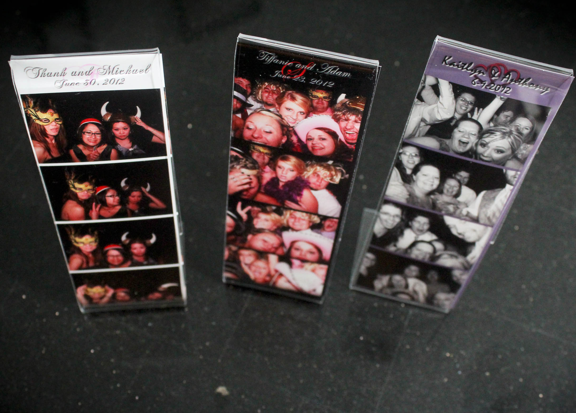 Acrylic photo booth strip frames, Photo Booth extras