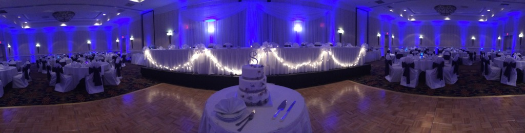 michigan blue uplighting rentals- full room uplighting