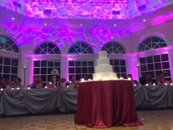 wedding Accent uplighting