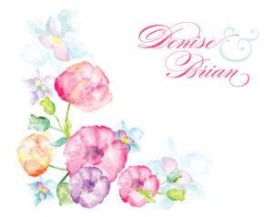 Custom-Memory-Book-Water-Color-Flower-675x536