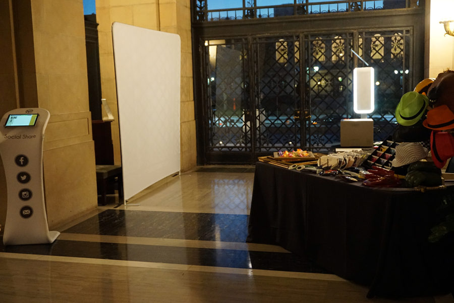 photobooth setup at Detroit Institute of Art-DIA- with photo booth rental props