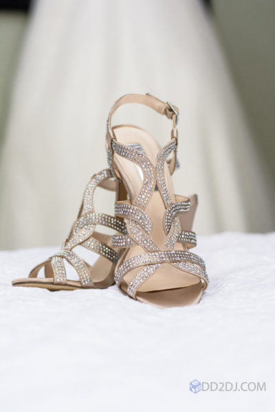 Detroit wedding photographer Bridal shoes