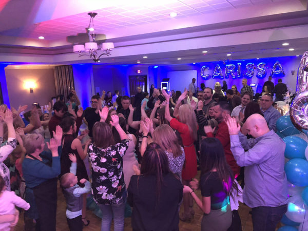 Detroit Party DJ sweet 16 birthday idea with guests dancing in Michigan