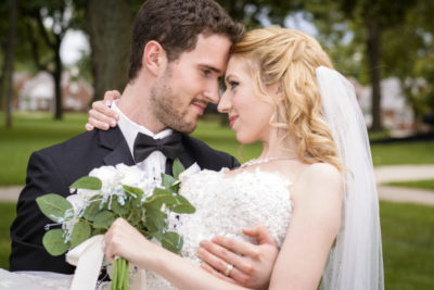 Bride and Groom in Detroit MI with the best Detroit Wedding photography