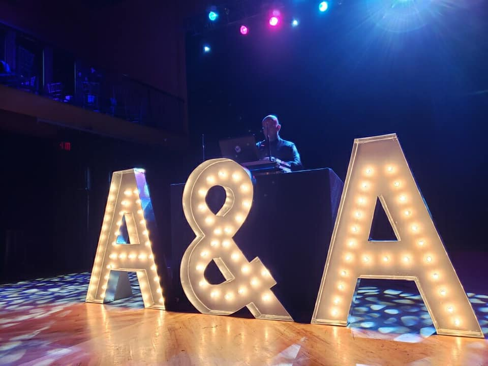 Wedding DJ in Detroit MI performing at wedding venue