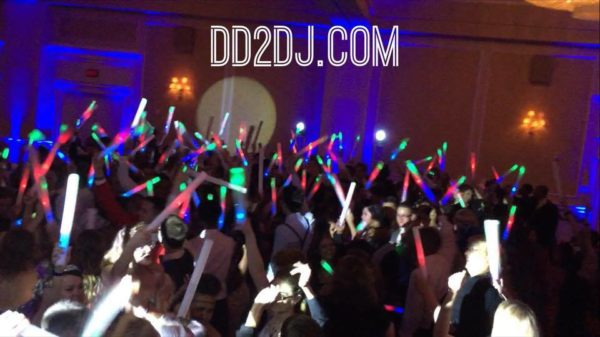 Prom Detroit DJ for school dances- Guests dance with school party foam sticks
