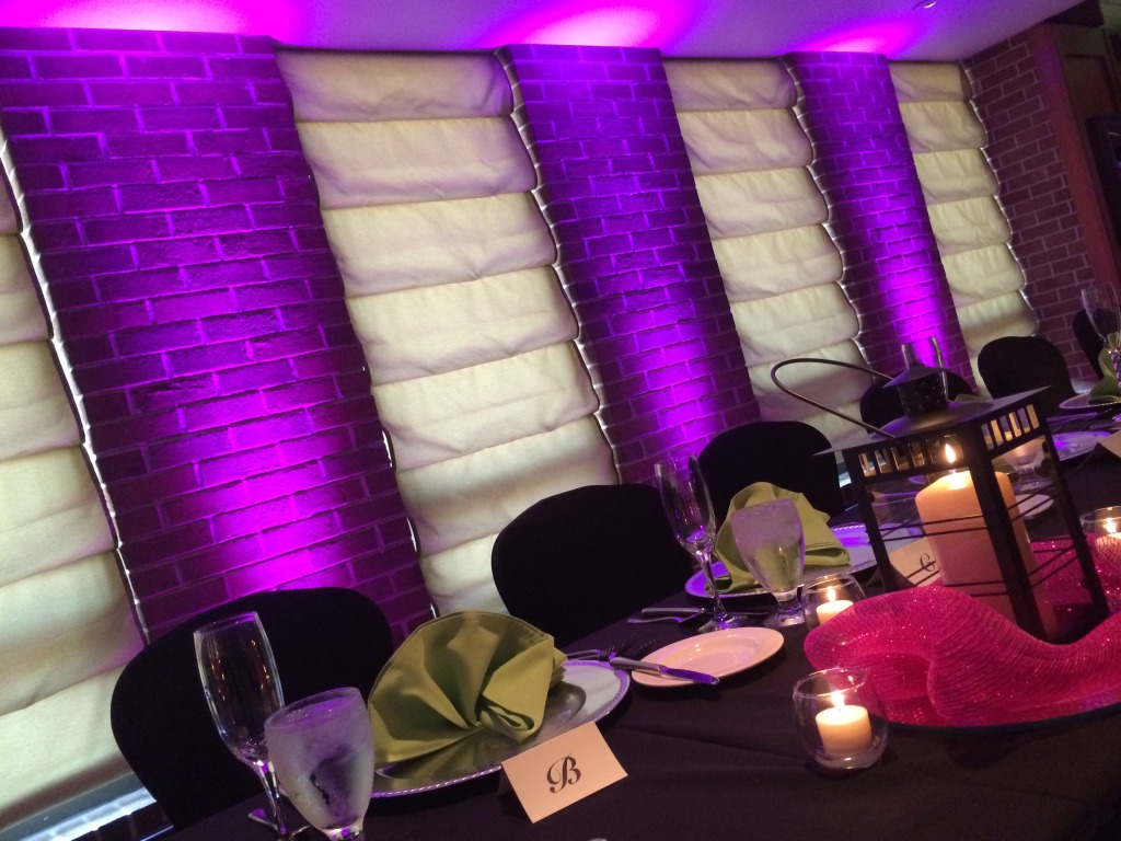 purple uplighting rental for wedding- rent uplighting for wedding in detroit MI- wayne county uplighting