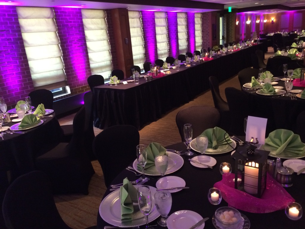 uplighting for wedding in ann arbor Michigan- wedding lighting rental