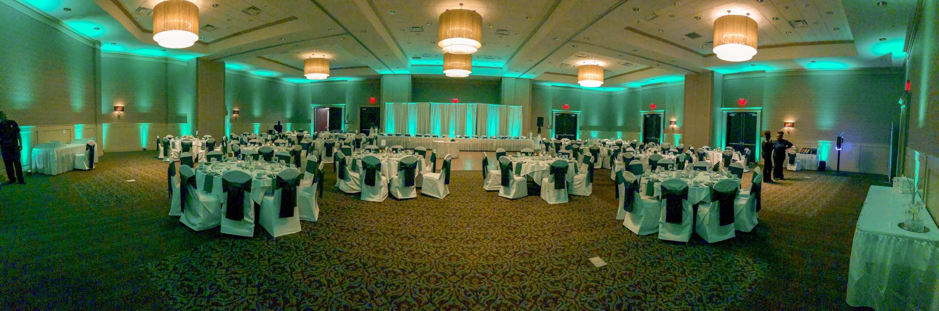 full room green uplighting rental