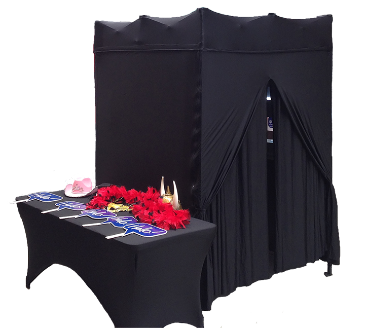 Example of enclosed Photo Booth Rental in Detroit MI, Photo Booth for rent in Michigan
