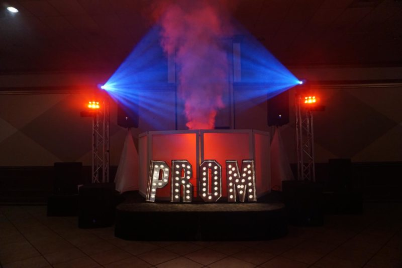 Prom DJ dance floor lighting-prom lighting ideas
