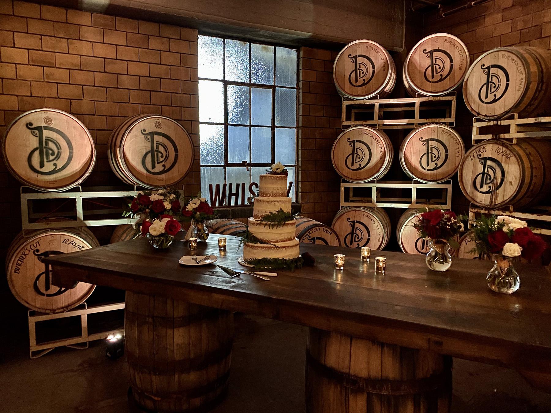 Detroit Michigan uplighting rental at The Whiskey Factory